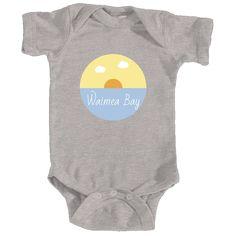 Waimea Bay Ocean Sunset - Hawaii Infant Onesie/Bodysuit
