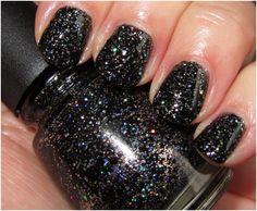 China Glaze Black Nail Polish Shade