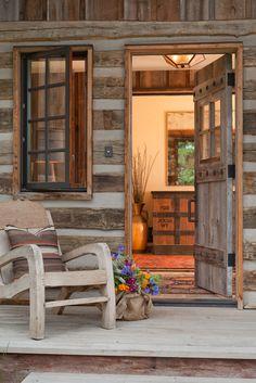 Log Cabin ... love the windows