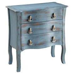Fir+wood+chest+with+three+drawers+and+anchor-shaped+pulls.      Product:+ChestConstruction+Material:+Fir+wood