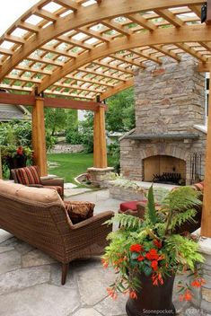 Implementation of such an artistic shade of pergola in your garden and outdoor area will for sure give your place a luxurious outlook impression. It's time to adore every beautiful happening and moment of your life by sitting under these wonderful pergola Diy Pergola, Curved Pergola, Pergola Canopy, Pergola Attached To House, Pergola Swing, Outdoor Pergola, Pergola Lighting, Wooden Pergola, Pergola Shade