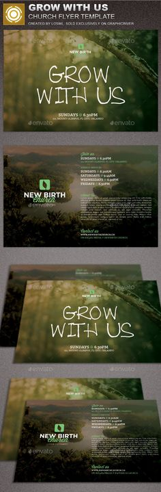 Grow With Us Church Flyer Template