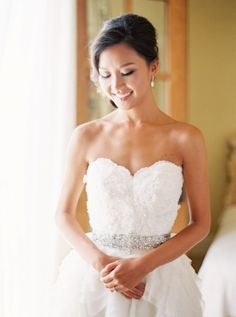 The beautiful bride: http://www.stylemepretty.com/2015/02/24/pink-clos-lachance-winery-wedding/ | Photography: Coco Tran - http://www.cocotran.com/