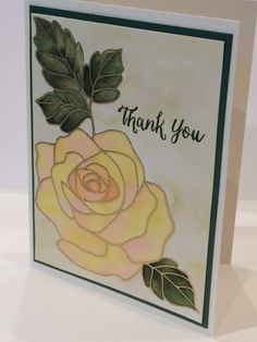 Thank You  Watercolor Floral by BellissimaCardshop on Etsy