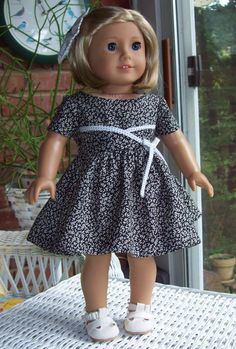 Fits 18 inch doll or American Girl doll.  Black and by ASewSewShop, $25.00