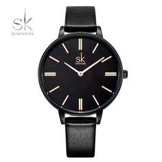 Shengke Woman Watches Luxury Brand Quartz Watches Ladies Watch Women Fashion Wristwatch Leather Girl Watch Relogio Feminino