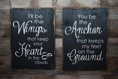 Holy crap-- our two favorite things- airplanes and anchors. I need to make these signs for our bedroom!