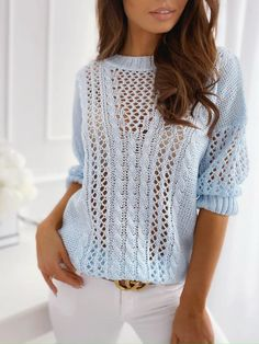 Knitting Stitches, Knitting Patterns Free, Crochet Patterns, Warm Sweaters, Sweaters For Women, Summer Knitting, Winter Tops, Knit Fashion, Crochet Clothes