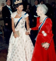 Queen Silvia and Princess Lilian of Sweden on an Icelandic state visit