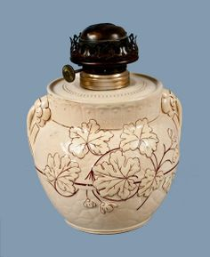 Haynes, Baltimore, AVALON FAIENCE Pottery Oil Lamp in Buttercup ...