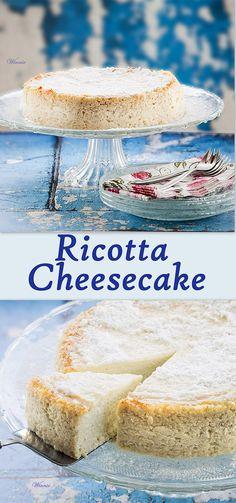 Ricotta Cheesecake.  #cheesecake  #ricotta  #dessert