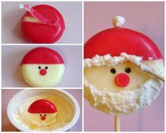 Piruletas de queso al estilo Papá Noel