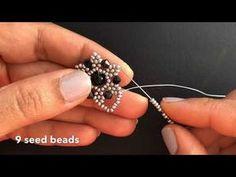 Best Seed Bead Jewelry 2017 - Unique Flower Beaded Earrings or Pendant ~ Seed Bead Video Tutorial - Diy Earrings Bead Jewellery, Seed Bead Jewelry, Beaded Jewelry, Handmade Jewelry, Beaded Necklace, Beaded Bracelets, Diy Jewelry, Flower Jewelry, Handmade Beads