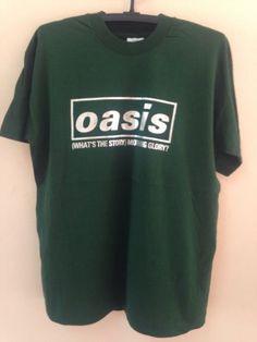 Oasis-Vintage-90s-T-Shirt-Rock-BritPop-Band-World-Tour-Concert-Rare-Size-L