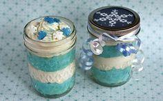 Winter Mason Jar Cupcakes