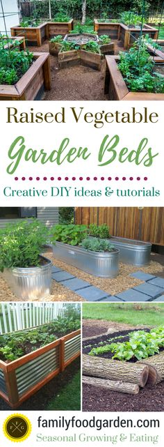 Raised garden beds add a lot of beauty to a garden. They're also excellent for drainage, warming up the soil faster in the springtime and a little higher for easier harvesting. They can make your garden look amazing! There are a many designs & materials you can use create a raised vegetable garden! Over the years we've made...