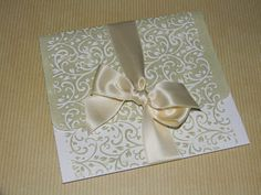 Embossed and distressed wedding ivitation, Tim Holtz old paper