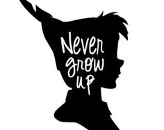Peter Pan Never grow up vinyl decal - Edit Listing - Etsy