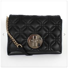 Kate Spade quilted leather purse Black leather quilted purse. Measures approx 8x6x2. Brand new with tags. PRICE IS FIRM!  kate spade Bags