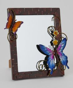 Take a look at this Brown & Blue Butterfly Small Mirror by DecoFLAIR on #zulily today!