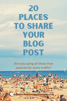 Without an audience a blog cannot be successful. Are you taking advantage of all the sites out there to share your ideas? We want your blog to thrive, so spread the word.
