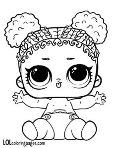 Lil Purple Queen L O L Surprise Doll Colouring Page Baby