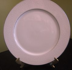 """Grace Fine China """"Concerto"""" Pattern 10 1/2""""  White Flowers & Leaves on White #GraceChina"""