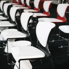 Black/White, Red/White Berlin Stacking Chair - Cort Events | cortevents.com