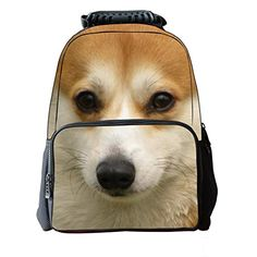 6fa34b82cc59 Vere Gloria Unisex School Backpack Bags 3D Animal Print Felt Fabric Hiking  Daypacks (dog8)