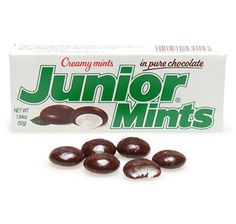Junior Mints - I used to get these out of the vending machine at school and eat them in Study Hall.