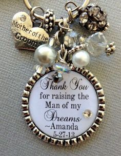 Love this mother of the groom charm bracelet... It even has my name on it :)