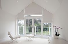 Triangular Blinds Gallery Image   Seems like it'd cover up the top part of the window though