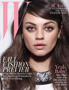 Mila Kunis by Michael Thompson for W Magazine August 2014