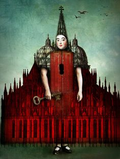 This is such a good representation of the book. You just simply never get there! You have the key, you see it with your own eyes, the people who live and work there  are just...better, but YOU can never reach it! Catrin Welz-Stein. Das Schloss