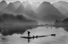Chian Tsunhsiung-Taiwan-PDI Monochrome Open-Hometown in the Dream. Foto Art, Taiwan, Monochrome, Mountains, Places, Nature, Pictures, Travel, China