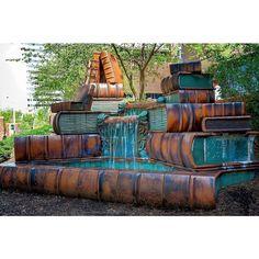 Book Fountain, Cincinnati Public Library - Photo J.F Schmitz | book Art