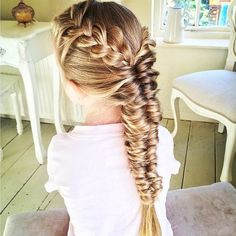 """Love this French braid and Topsy Tail fishtail braid @sweethearts_hair_design "" Photo taken by @braid.posts on Instagram, pinned via the InstaPin iOS App! http://www.instapinapp.com (04/17/2015)"