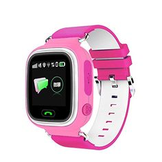 VALETY Q90 GPS Smart Watch Baby Wristwatch Wifi Touch Screen SOS Location Finder Emergency Call For Kid Safe Anti-Lost For IOS Android Mobile Christmas Gift (PINK). The latest 1.44inch touch screen and color LCD easier for kids, simple cartoon icon can make kids understand every meaning, let child can quickly contact relatives. WiFi+GPS+LBS+APGS 4 Mode Location;Two Way Calls+Watch off alarm + Disturb mode + Security fence +Remote monitoring + SMS Push + Track playback + Sleep Tracker +...