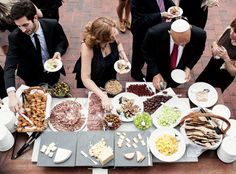 Your DIY Wedding Cocktail Hour: Cheese, Charcuterie, Oysters. Your DIY Wedding Cocktail Hour: Cheese, Charcuterie, Oysters. Wedding Reception Food, Brunch Wedding, Wedding Catering, Diy Wedding, Wedding Ideas, Wedding Cocktail Hour, Wedding Planning, Charcuterie Wedding, Rustic Wedding