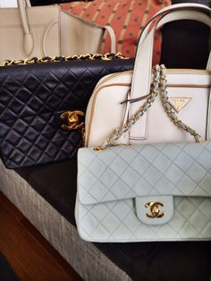It's all about the glamour. #Chanel #Celine #BellaBag #NYFW #MBFW