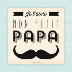 Je t'aime, mon petit papa stamp by Craft Origine