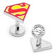 Superman Shield Cufflinks - http://lopso.com/interests/dc-comics/superman-shield-cufflinks/