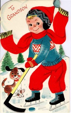 #midcentury #Christmas #greetingcard #BuzzaCardozo