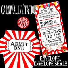 Carnival Party, Carnival Invitation, Carnival Birthday Invitation, Circus Party, Circus Invitation, Circus Birthday Invitation by PrintPartyDesigns on Etsy https://www.etsy.com/listing/478451450/carnival-party-carnival-invitation