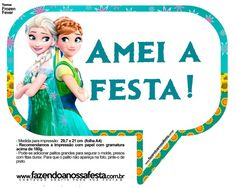 Plaquinhas Divertidas Frozen Fever 7