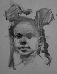 Charcoal Drawing little girl by Ehsan Maleki Charcoal Drawing Tutorial, Charcoal Drawings, Drawing Tutorials, Drawing Techniques, Love Drawings, Easy Drawings, Emotional Drawings, Celebrity Drawings, Hippie Art