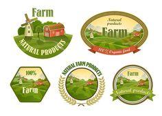 Farm fresh emblems set ~ Web Elements on Creative Market