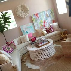 Friday 5 || STEPHANIE BRADSHAW, a Creative Studio || #interior #design #creative #studio #peach #custom #artwork