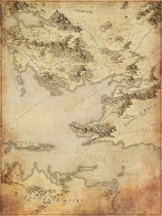 A map of West Char an Tyra, perfect for any RPG and fantasy setting. Fantasy Map Making, Fantasy World Map, Fantasy City, Fantasy Rpg, Old Maps, Antique Maps, Vintage Maps, Dnd World Map, Imaginary Maps