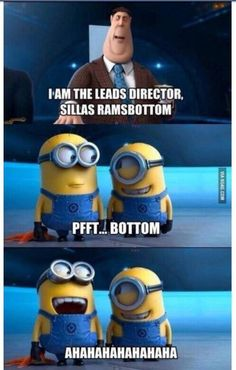 Hehe. Bottom. #minions @Leah Hefner it's Stuart and Jerry!:)